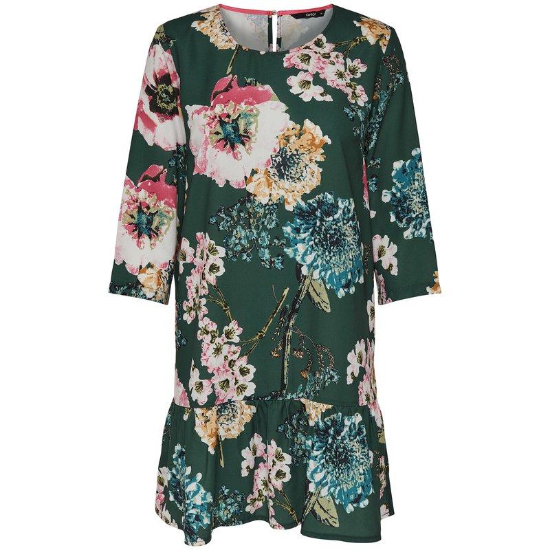 Vestido corto mujer con estampado flores - Only
