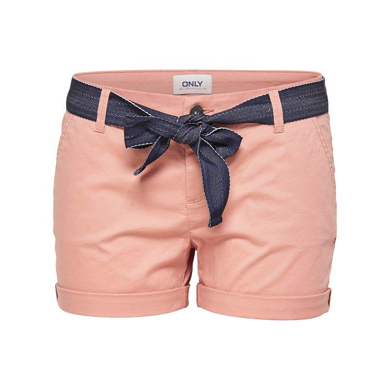 Pantalón corto con cinturón a contraste - Only