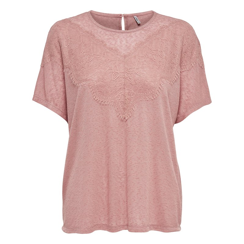 ONLY - Camiseta mujer cuello redondo manga corta