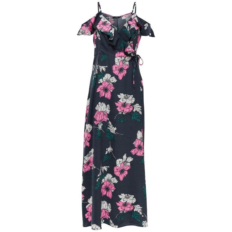 Vestido largo flores hombros descubiertos - Only