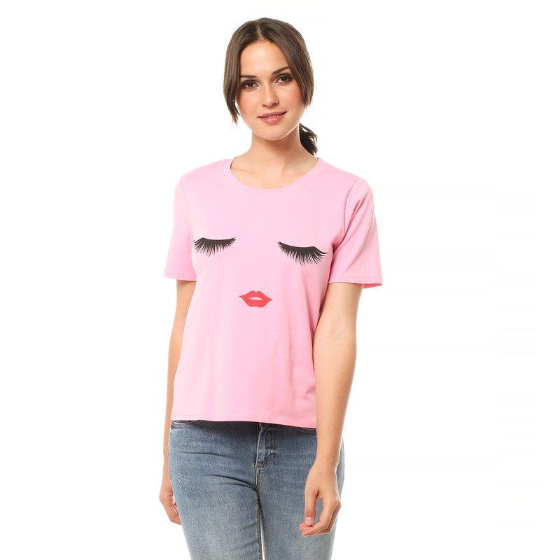 Camiseta mujer estampada manga corta - Only