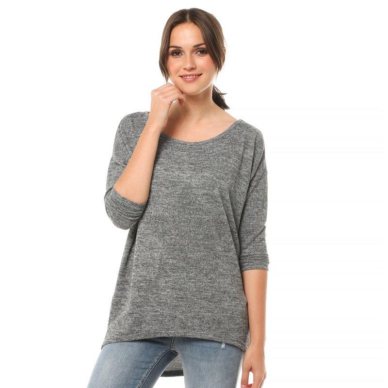 Jersey largo manga larga y escote redondeado - Only