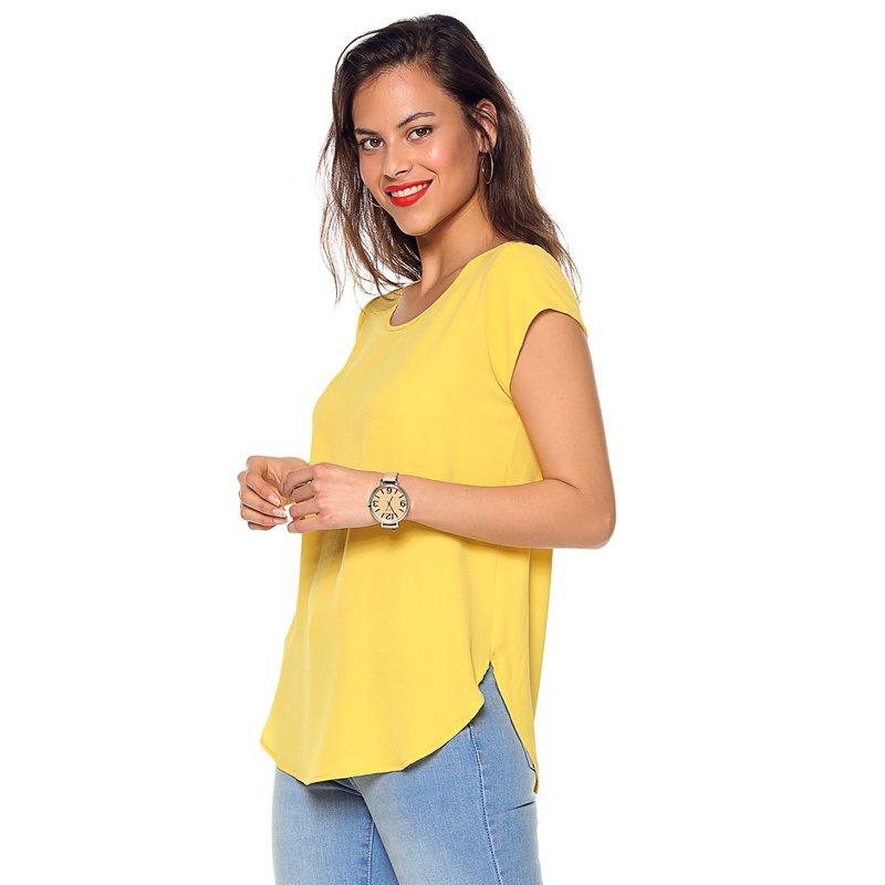 Blusa mujer manga corta escote redondeado - Only