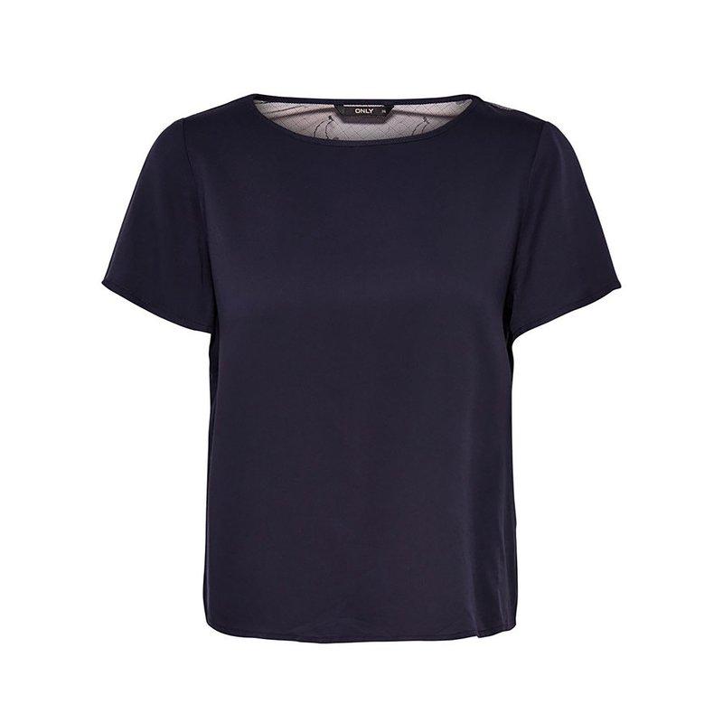 ONLY - Blusa para mujer con estampado de cerezas
