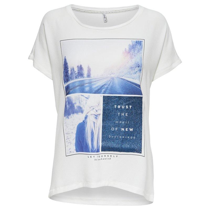 Camiseta mujer estampado frontal manga corta - Only