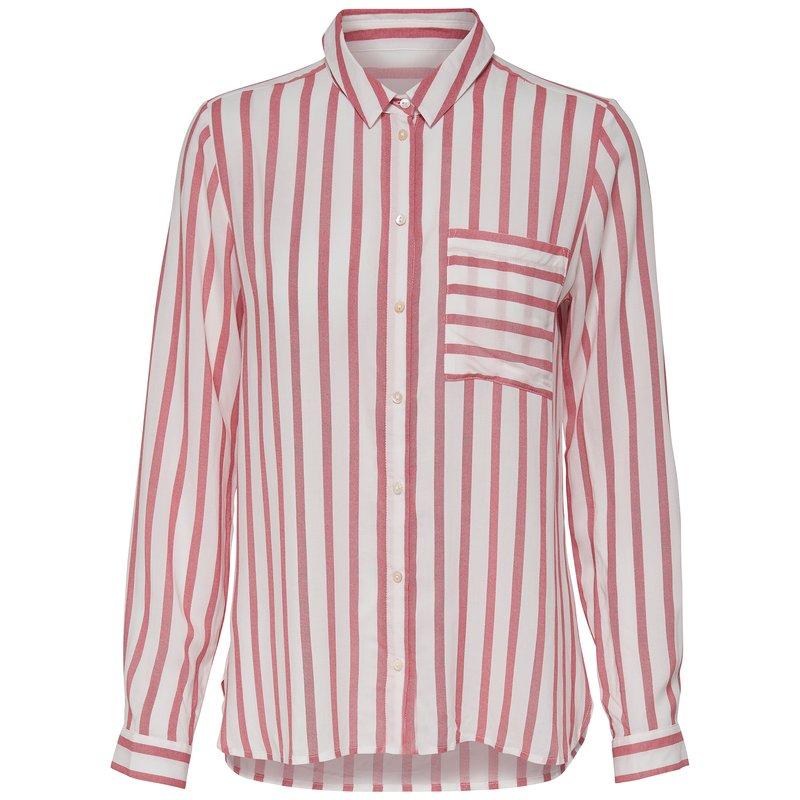 ONLY - Camisa a rayas para mujer de manga larga