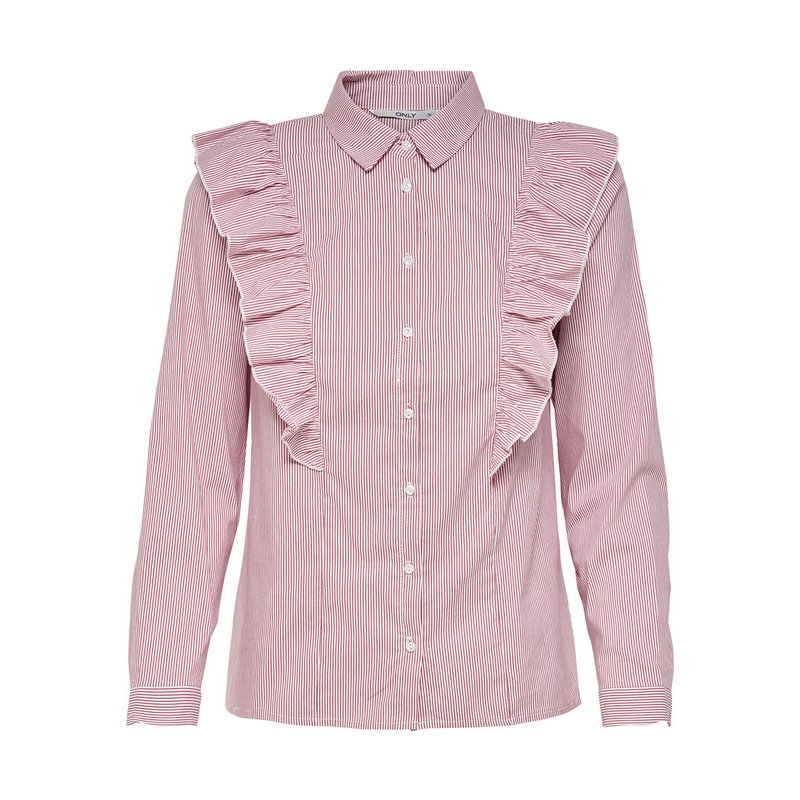 ONLY - Camisa mujer con volantes laterales
