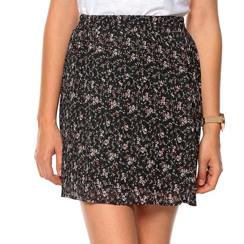 ONLY - Falda plisada mujer con cintura elástica