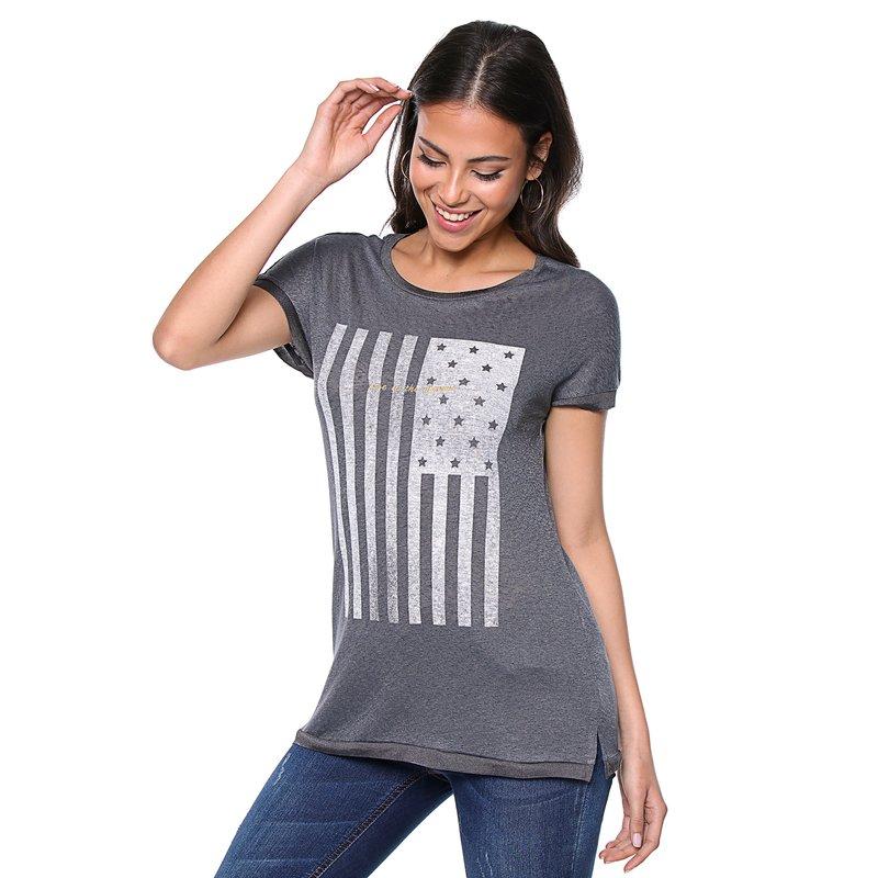ONLY - Camiseta larga de manga corta para mujer