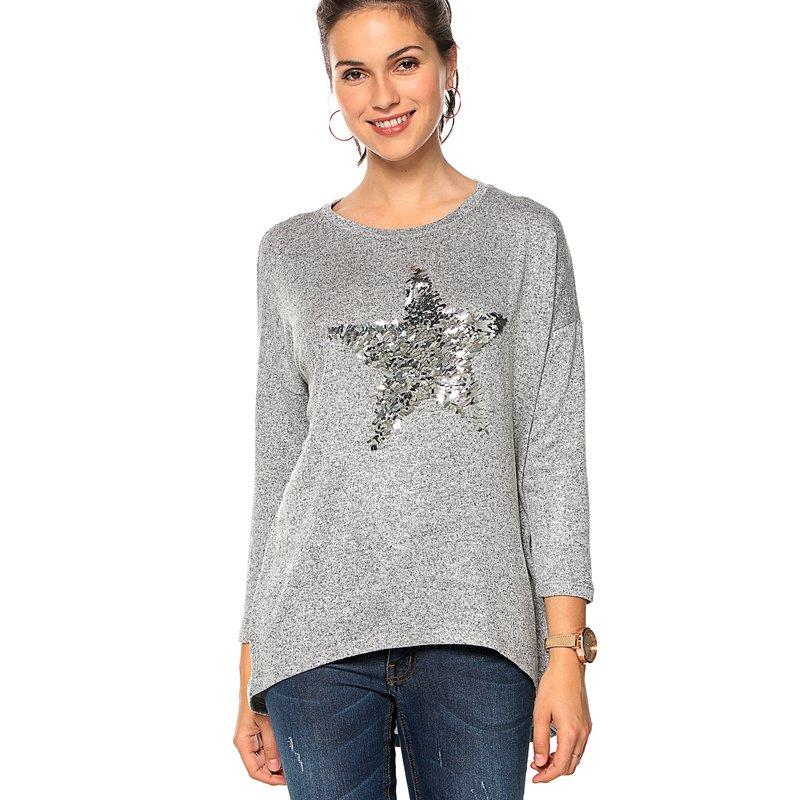 Jersey de punto manga larga con estrella - Only