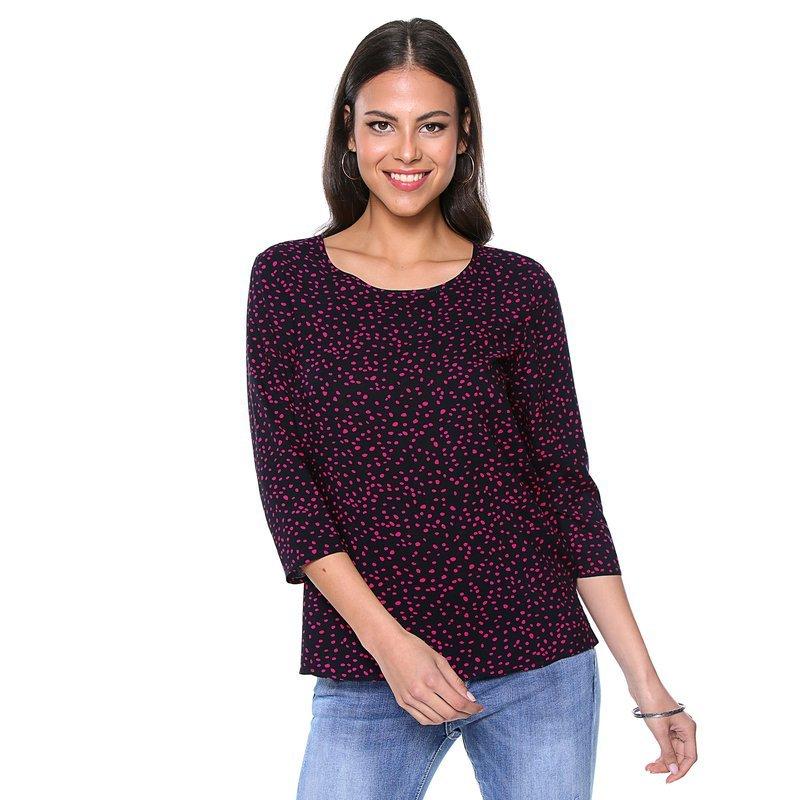 ONLY - Camisa estampada a topos de manga 3/4 para mujer