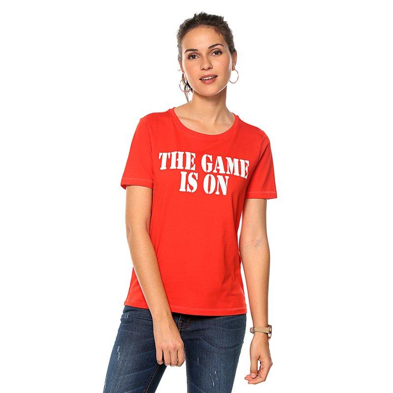 Camiseta manga corta mujer con estampado frontal - Only
