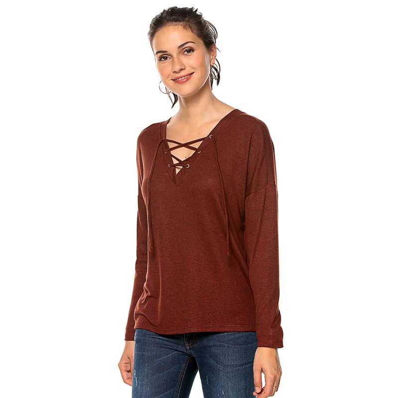 Jersey para mujer en punto con escote en V - ONLY