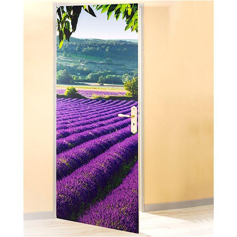 Film para puerta campo de lavanda en PVC