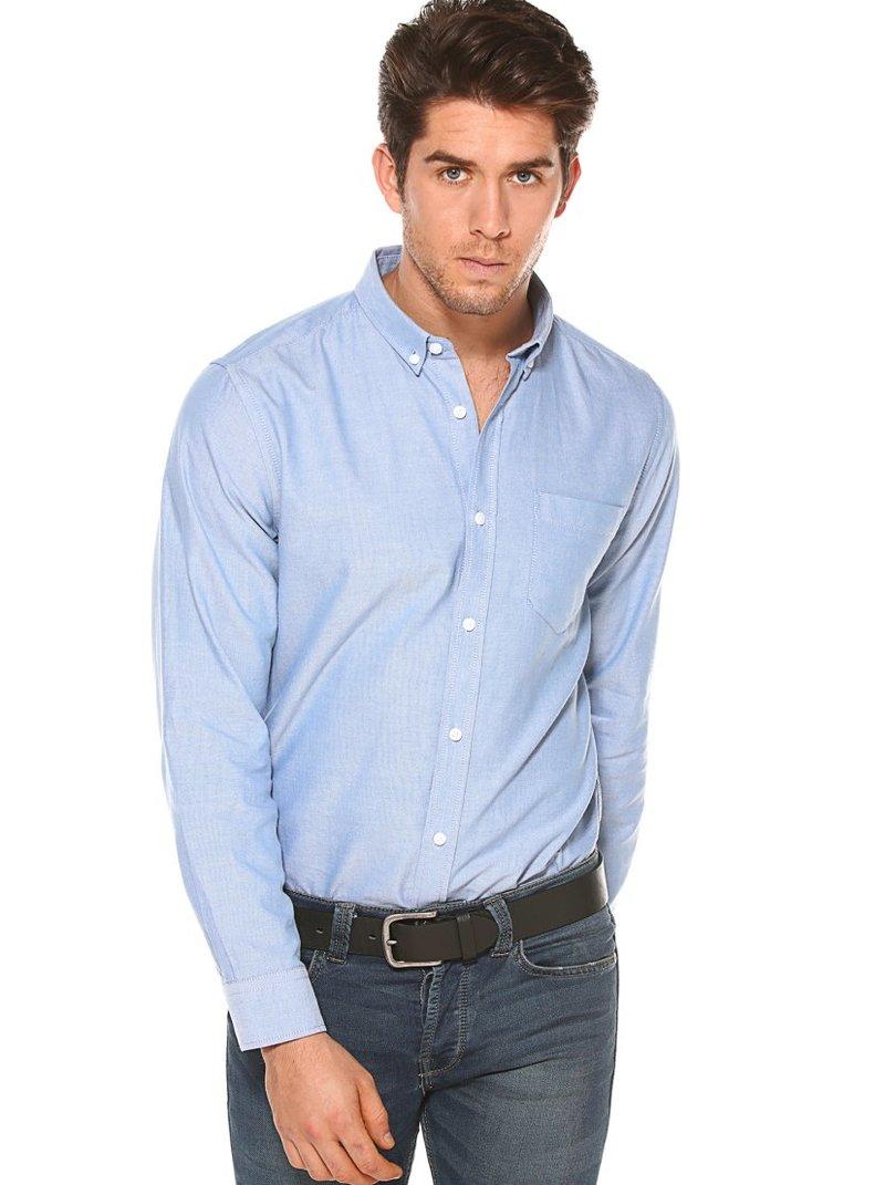 Camisa manga larga cuello camisero