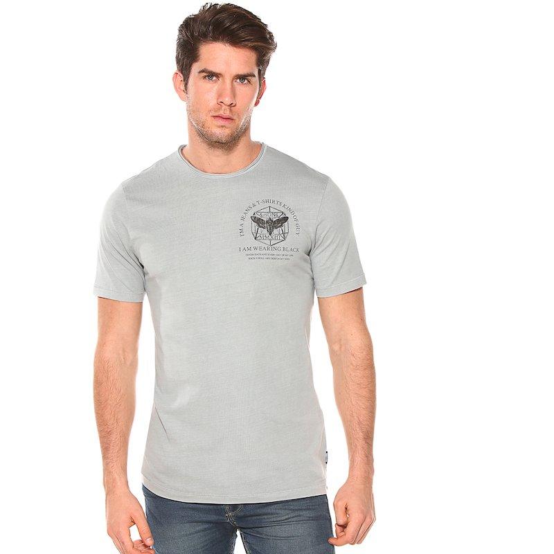 Camiseta estampada escote roulé