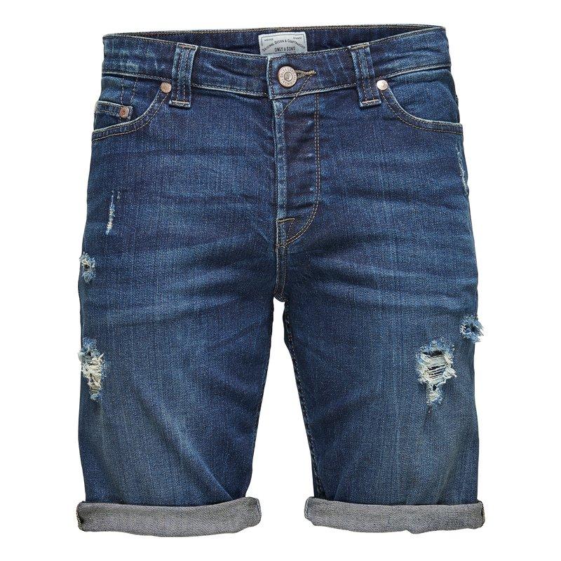 Pantalón vaquero corto detalles rotos