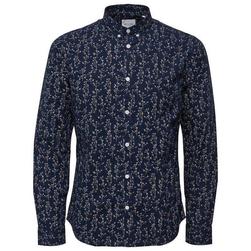 Camisa manga larga pequeño estampado
