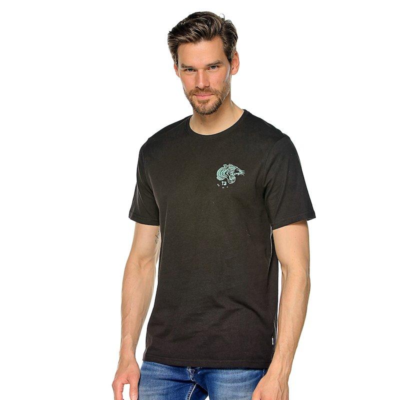 Camiseta manga corta bicolor hombre