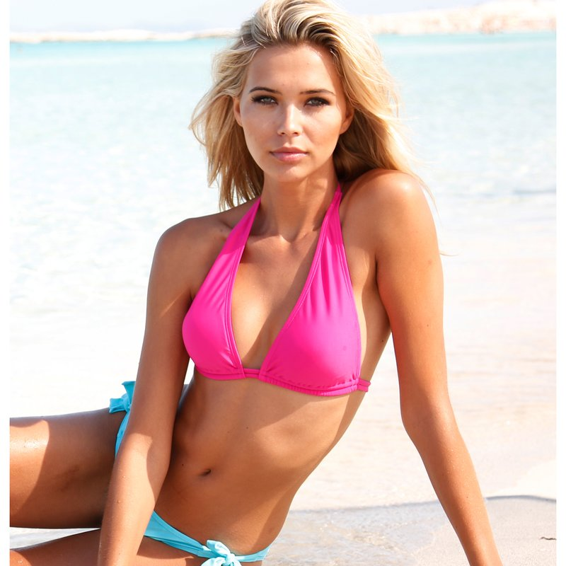 Sujetador bikini triángulo tipo vela con relleno