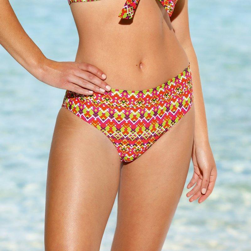Braga alta de bikini estampado multicolor