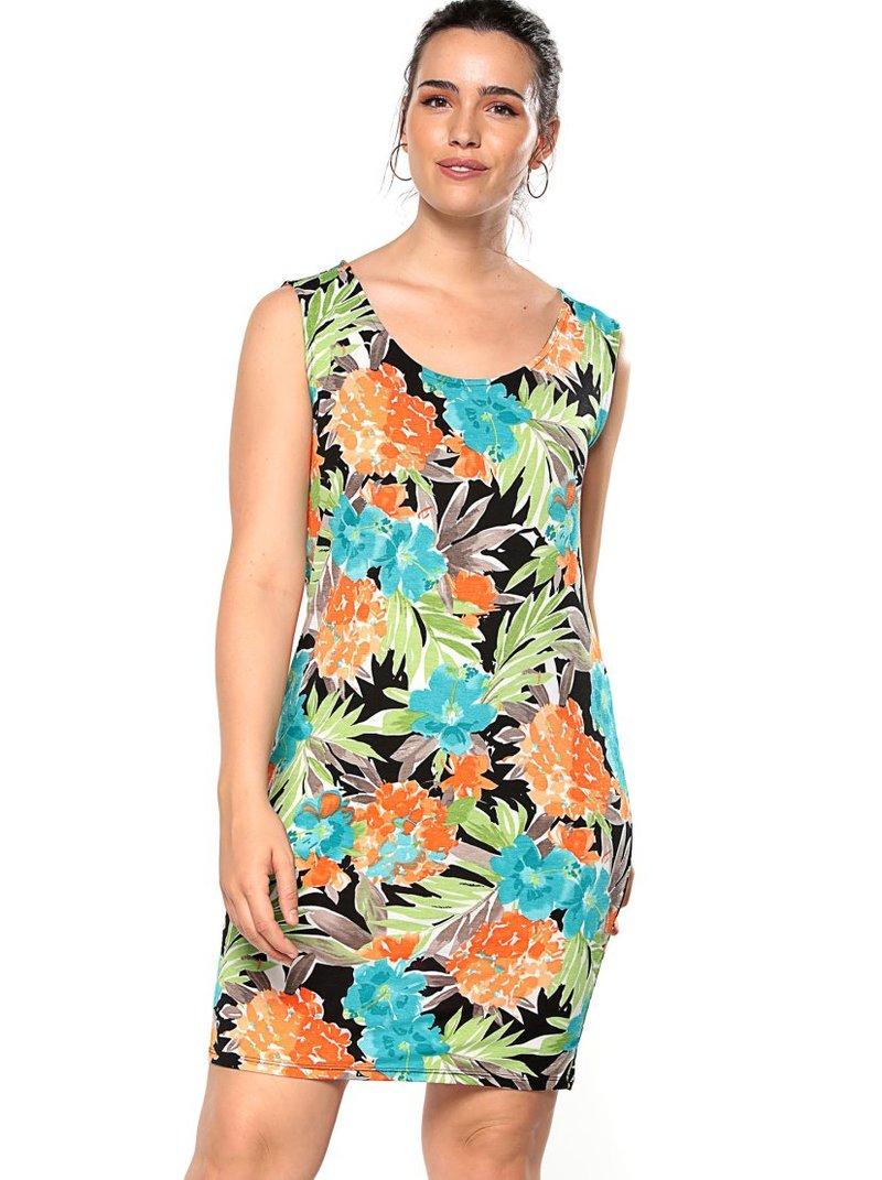 Vestido floral de tallas grandes