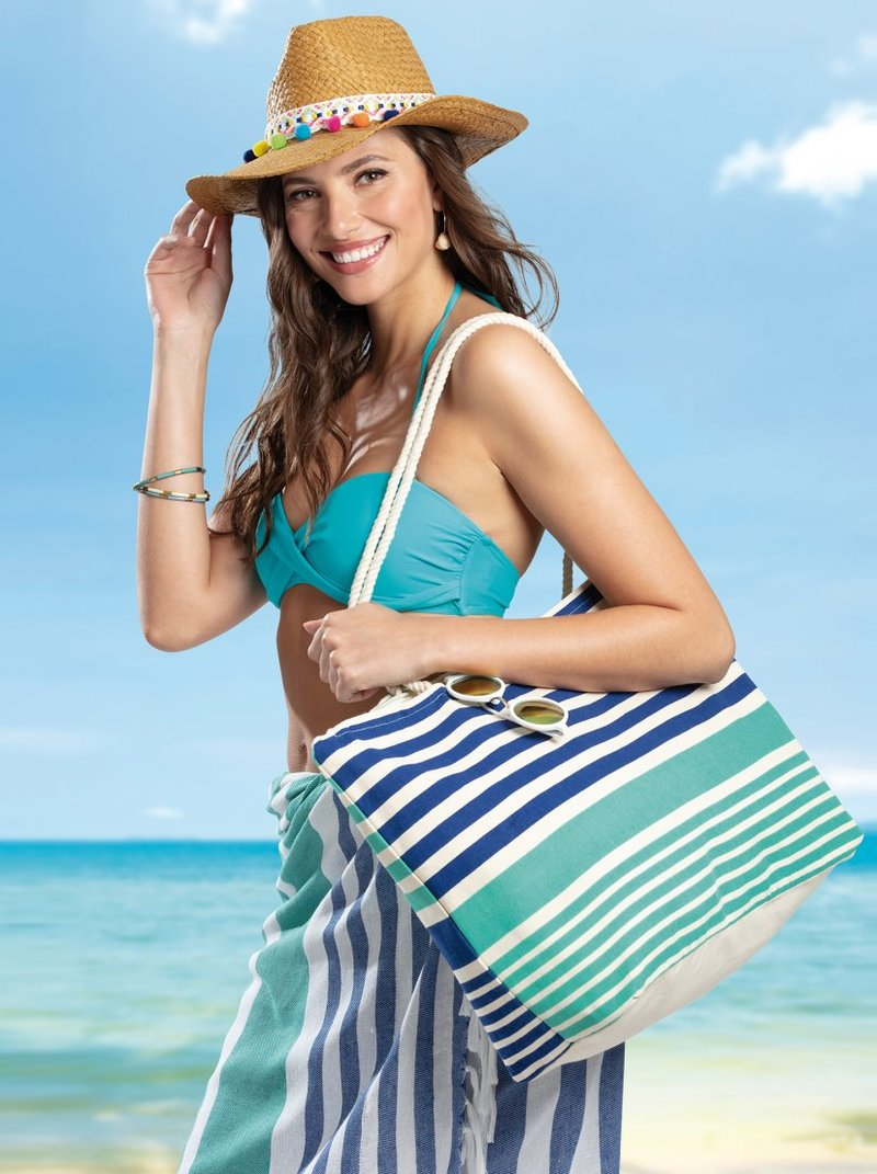 Bolso de playa interior plastificado