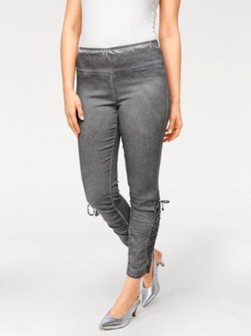 Pantalón legging mujer con encaje