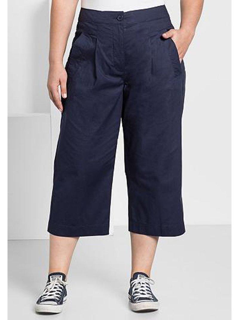 Pantalón pirata con pinzas tallas grandes