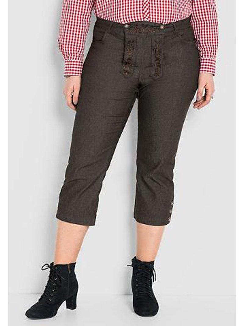 Pantalón largo 3/4 mujer tallas grandes