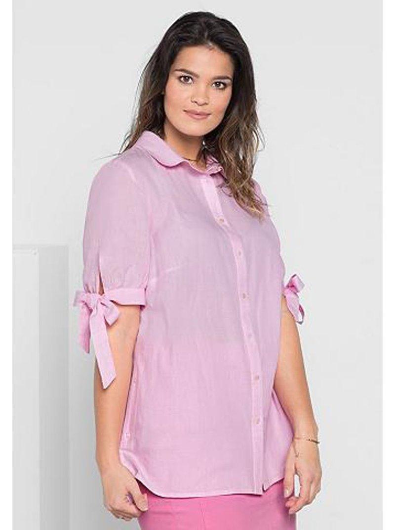 Camisa de mujer manga corta tallas grandes
