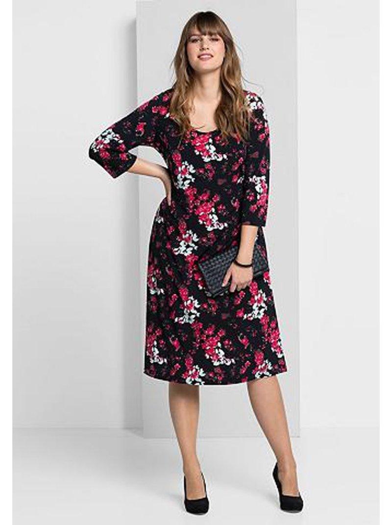 Vestido estampado escote redondo tallas grandes