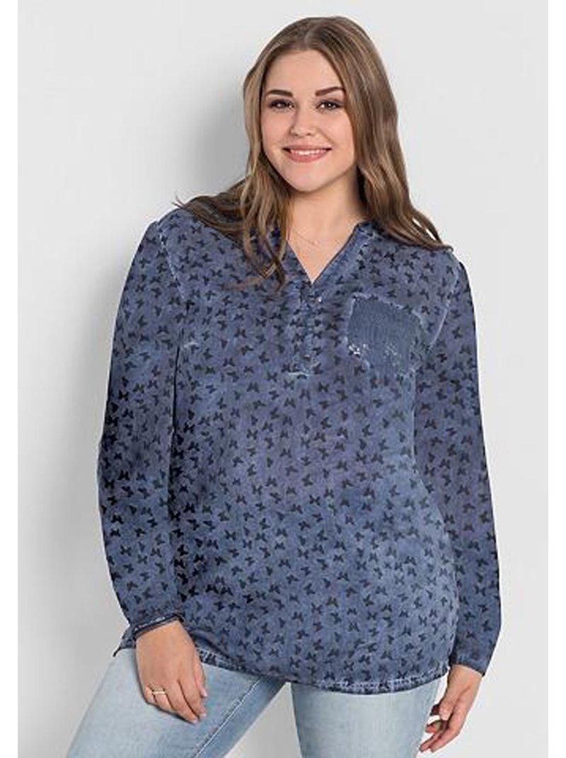 Blusa túnica mujer estampada tallas grandes