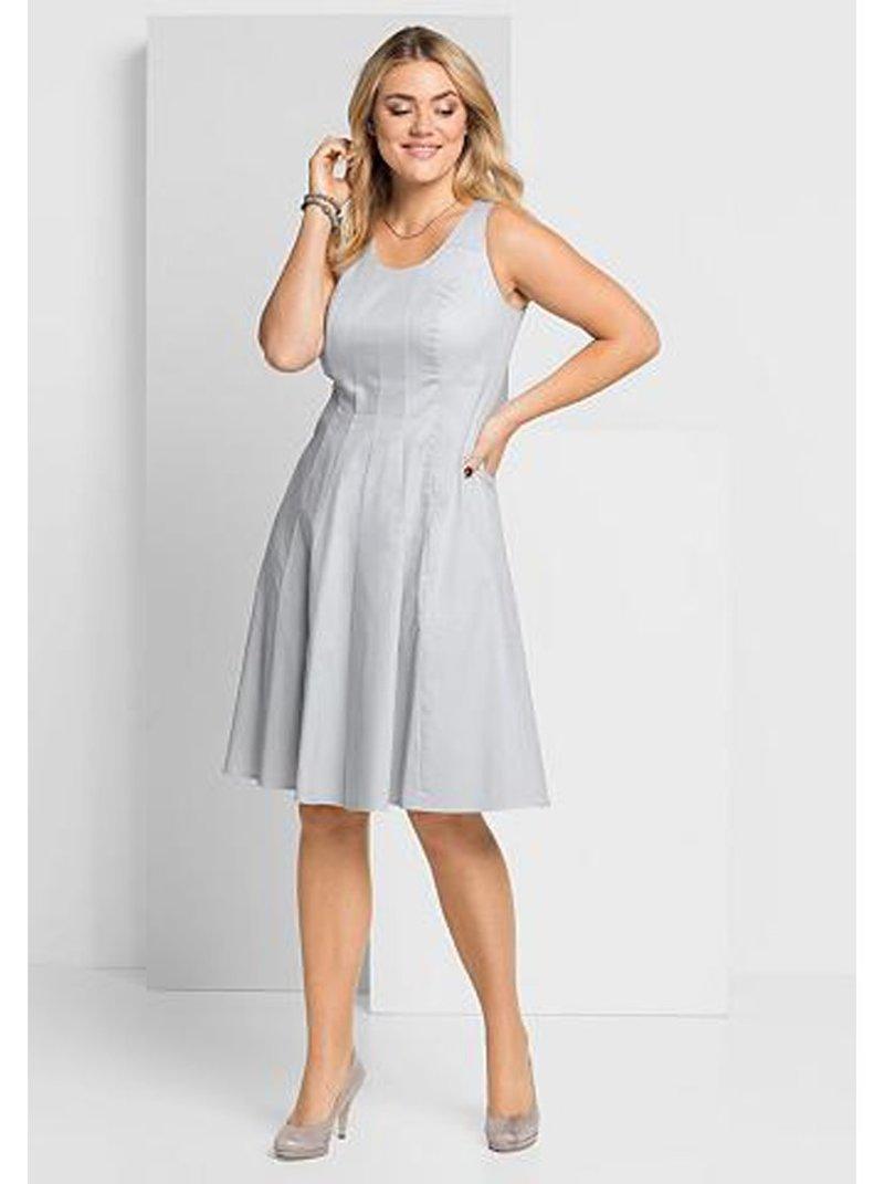 Vestido fiesta mujer sin mangas tallas grandes