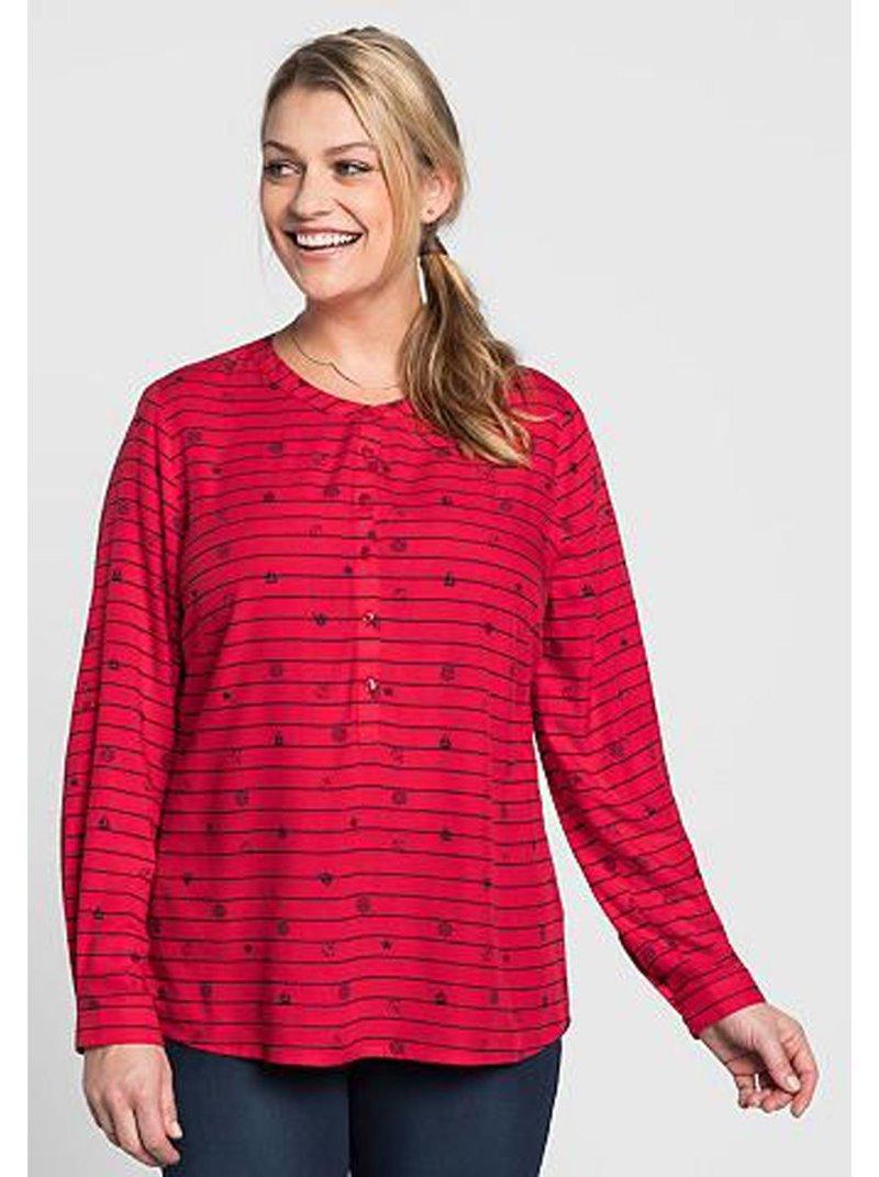 Camiseta túnica estampada mujer tallas grandes