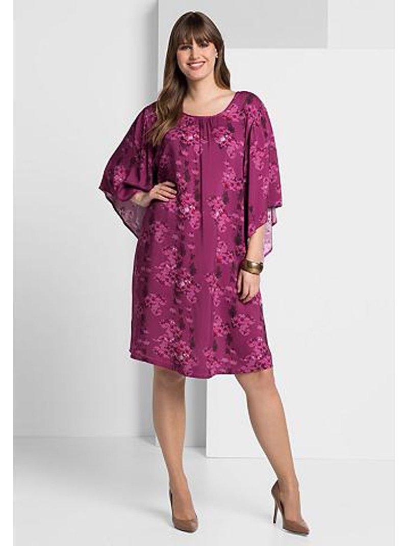 Vestido estampado manga 3/4 tallas grandes