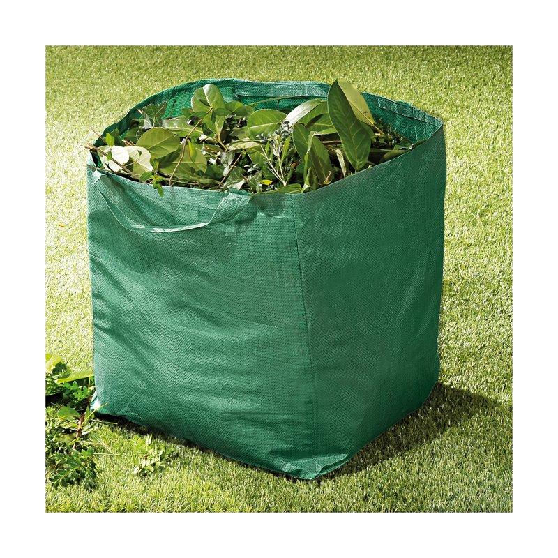 Saco de jardín con asas plegable 70 litros