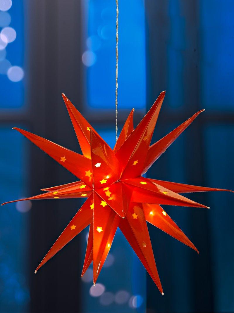 Estrella 3D con luces LED interior y exterior