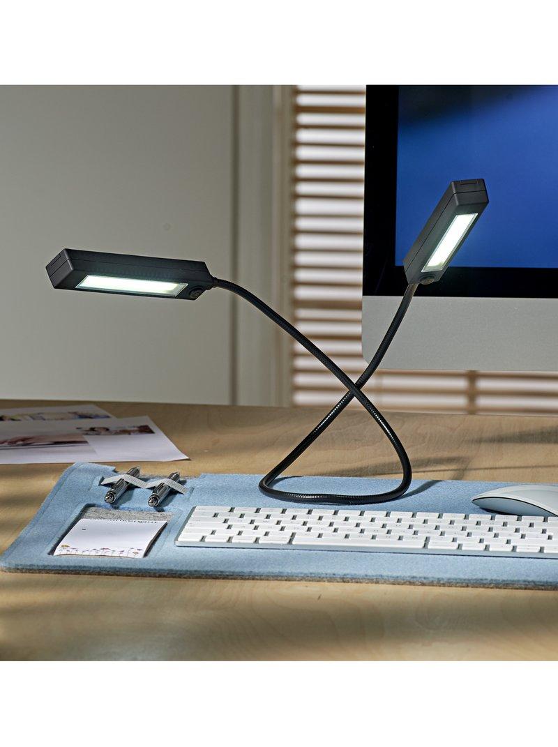 Luz portátil LED flexible con 2 módulos