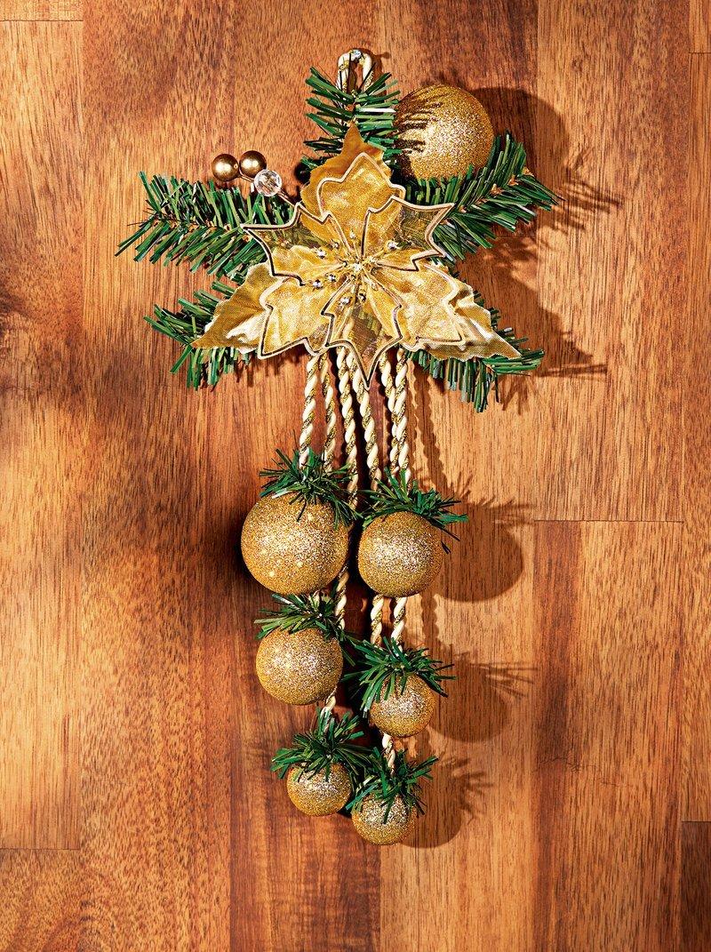 Colgante navideño para puerta con bolas