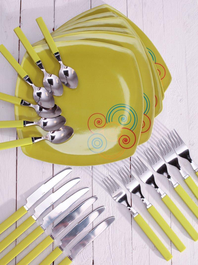 Vajilla + cubertería 24 piezas