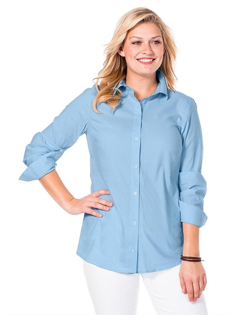 Blusa ligeramente ajustada para mujer