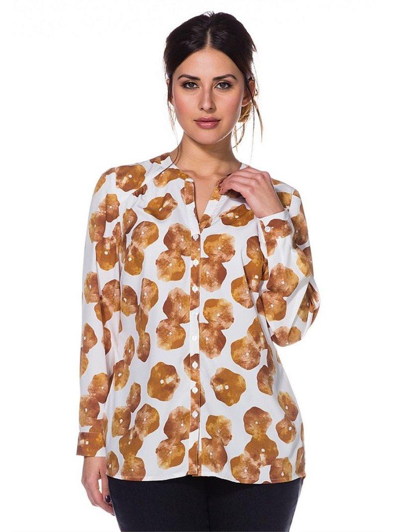 Blusa de corte mullet con pliegues mujer