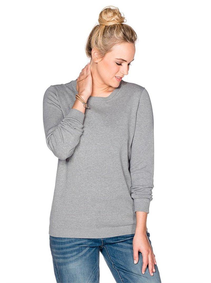 Jersey escote redondo en 6 colores mujer