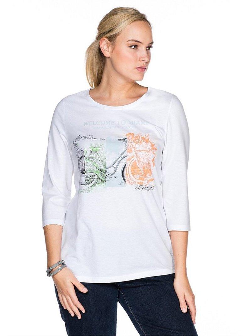 Camiseta mujer estampado frontal bicicleta