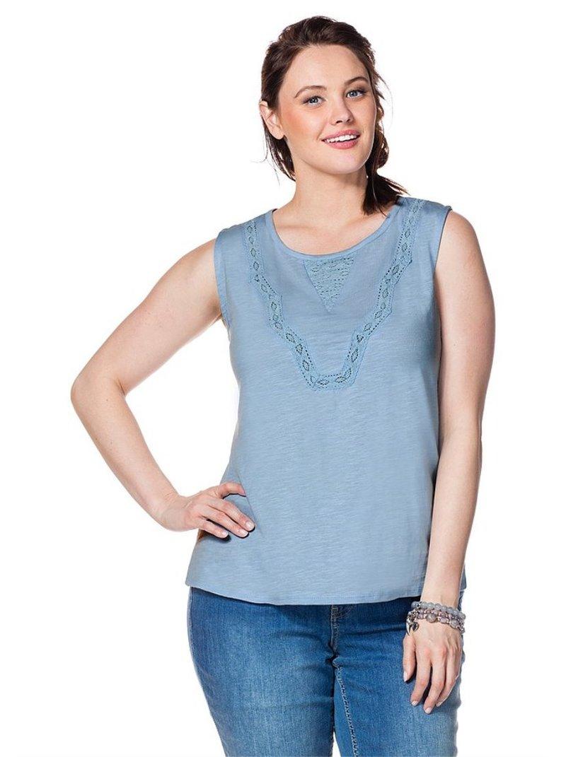 Camiseta tirantes encaje mujer tallas grandes