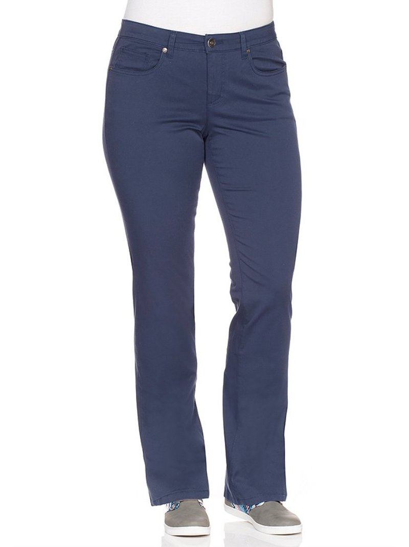 Pantalón largo mujer con bolsillos tallas grandes