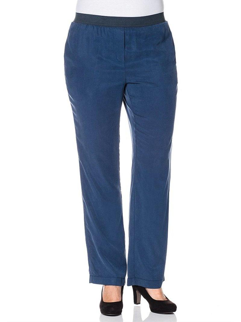 Pantalón ancho azul mujer tallas grandes