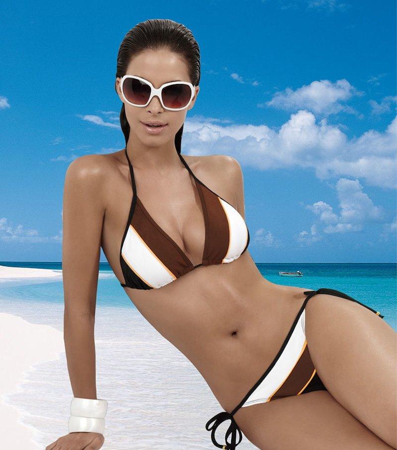 Bikini mujer cuatricolor escote V
