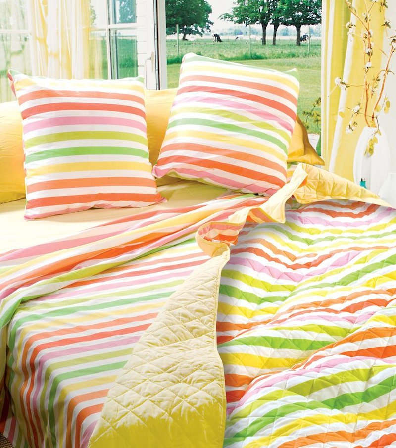 Conjunto cama Colors Talla 135 con plaid